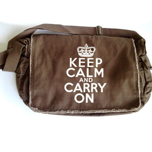 Keep Calm Large Messenger brown