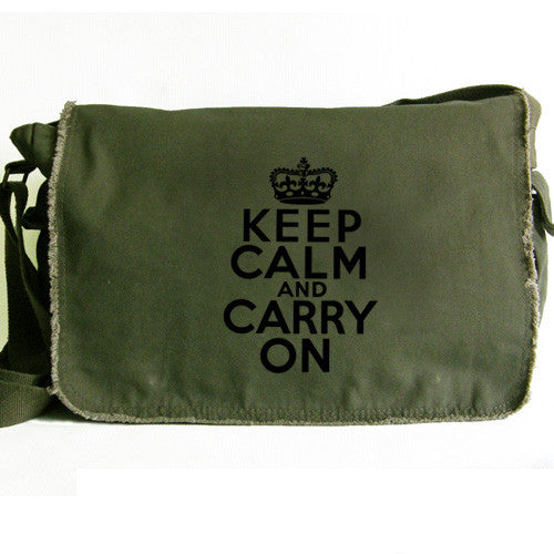 Keep Calm Large Messenger green