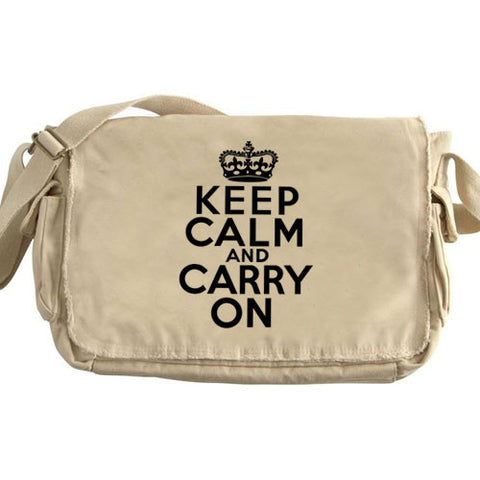 Keep Calm Large Messenger tan