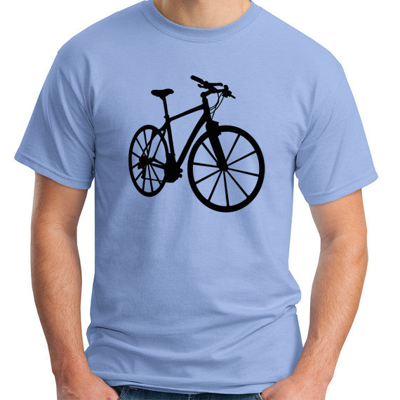 blue bicycle t-shirt