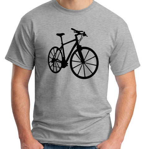 gray bicycle t-shirt