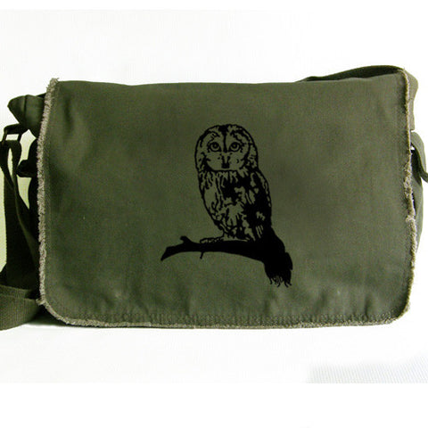 Owl Messenger Bag green