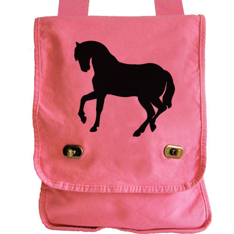 Horse Silhouette Messenger Bag pink