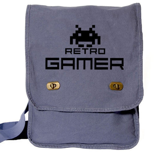 Retro Gamer Messenger Bag blue