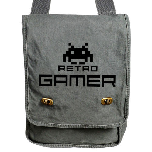 Retro Gamer Messenger Bag gray