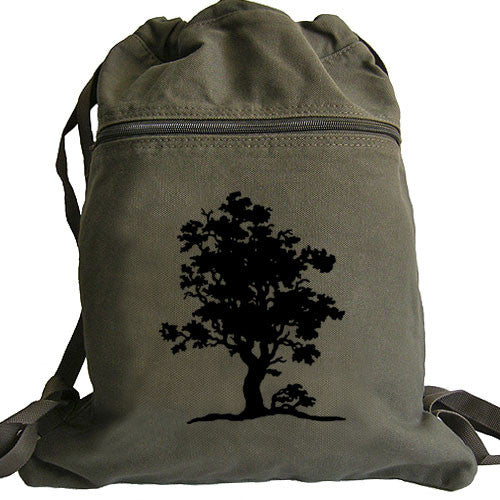 Tree Of Life Backpack Canvas Drawstring Book Bag