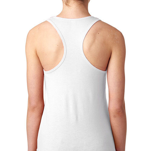 African Elephant White Tank Top back