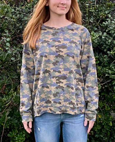 THE SHELBY• Camouflage print long sleeve top