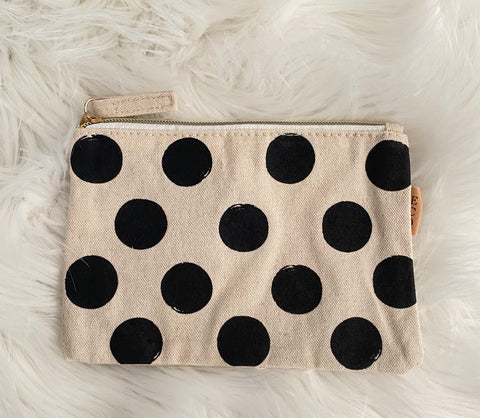 THE PENELOPE • Canvas polka dot pouch