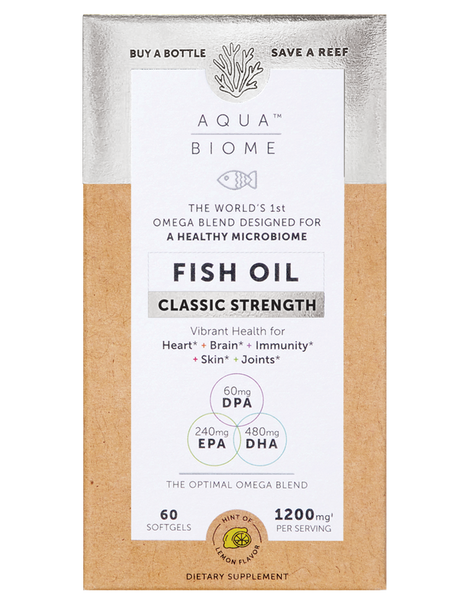 Aqua Biome™ Fish Oil Classic Strength 60