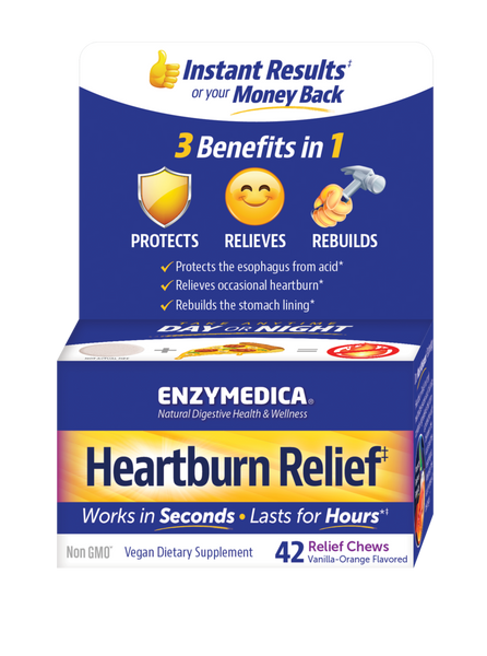 Heartburn Relief‡90 chews Enzymedica