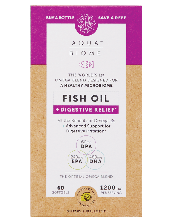Aqua Biome™ Fish Oil Digestive Relief 60, Enzymedica