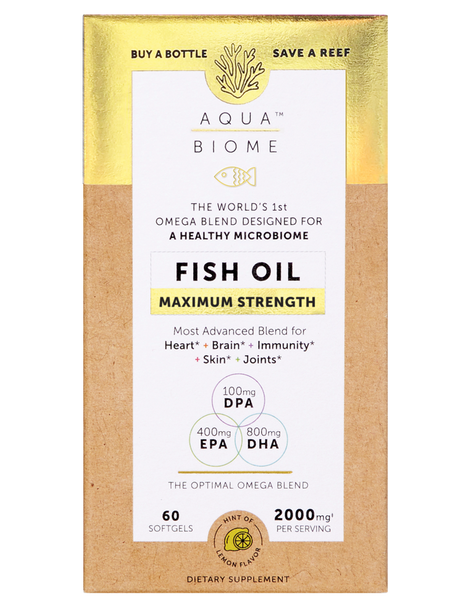 Aqua Biome™ Fish Oil Maximum Strength 60