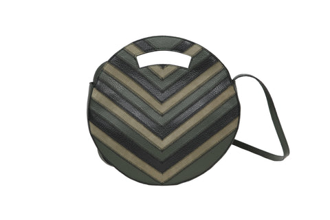 Round Bag Black Patent