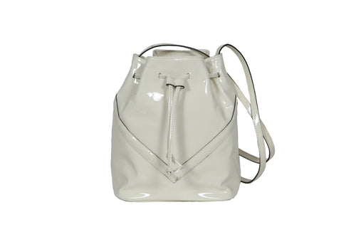s.s ' 19 - Off White Patent Bucket Bag