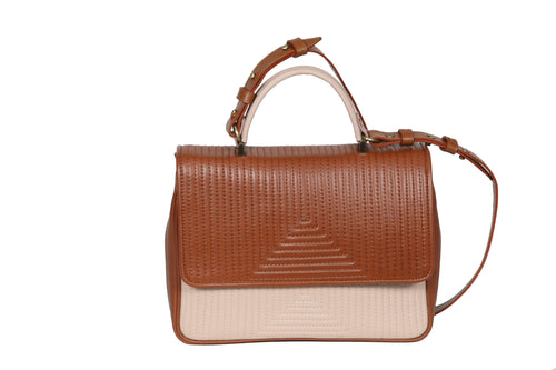 The Madrid V Bag - Havana & Beige