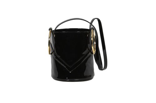 Mini Bucket Black Patent