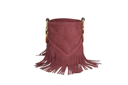 Mini Bucket Wine Suede - Boho