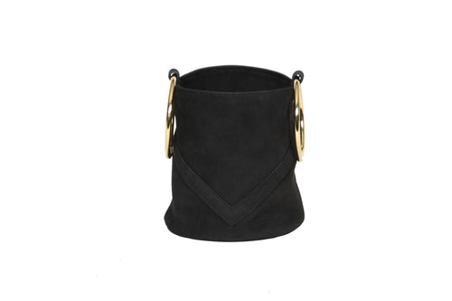 Mini Bucket Black Suede