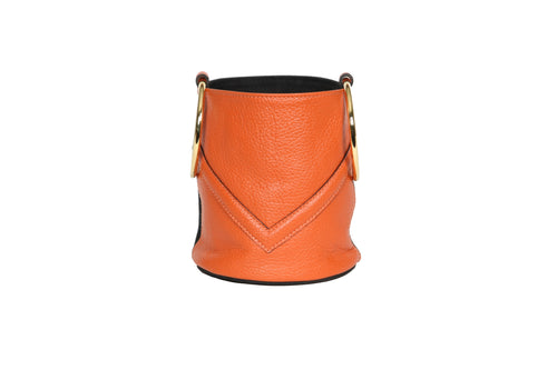 Mini Bucket Orange - Black