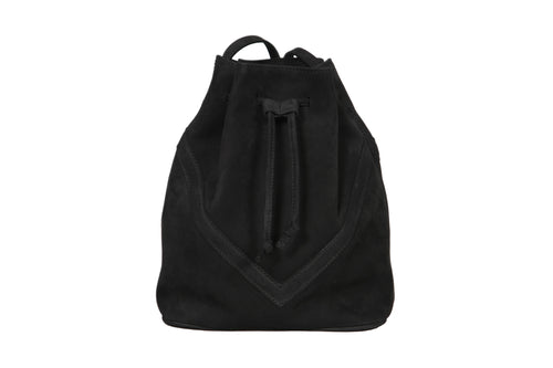 Bucket Bag Black Suede