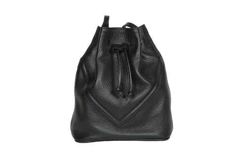 Black Patent Bucket Bag
