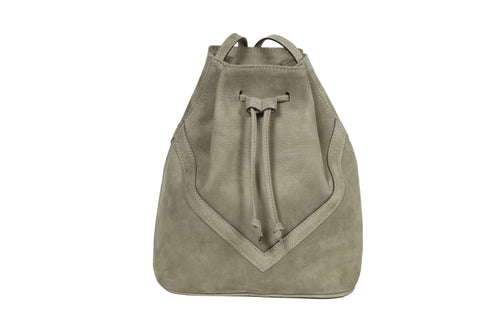 Bucket Bag Kaki Suede