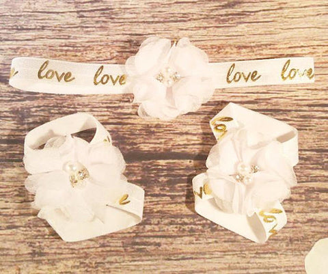Love is Golden Headband set