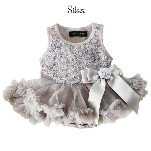 Rosette Princess Baby Onesie Pettidress
