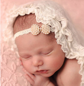 Little Julia Vintage Lace Pearl Headband