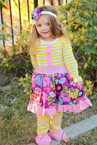 Lemony Goodness Ruffle Boutique Outfit