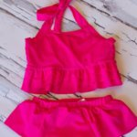 Hot Pink Rash Guard Tankini