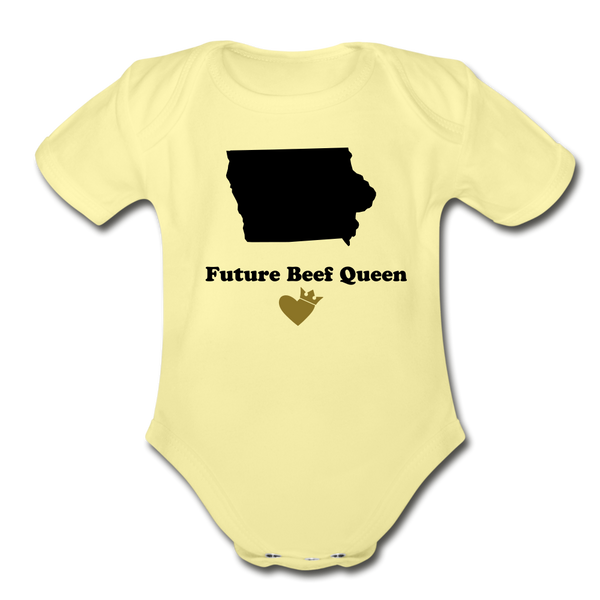 Beef Queen one piece - washed yellow