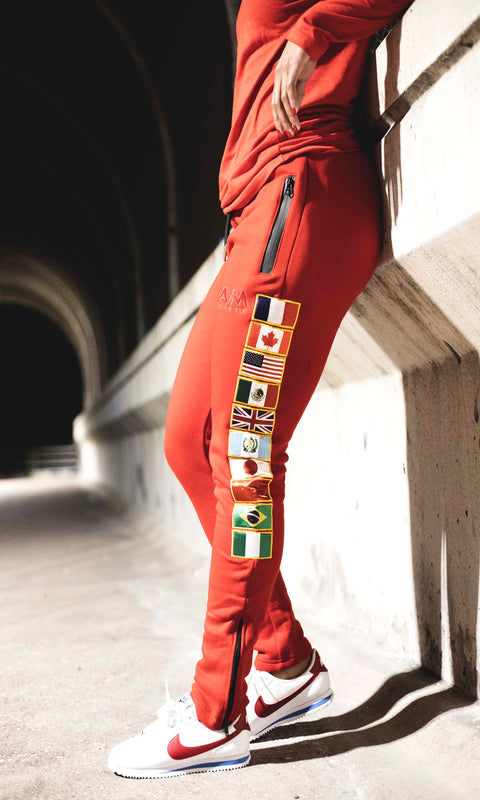 Red International Joggers