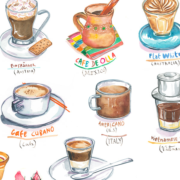 Coffees around the world