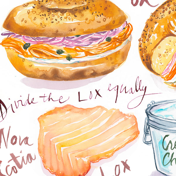 Bagel with Lox recipe