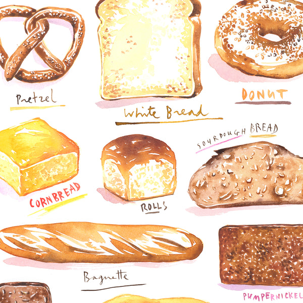 Types of Bread print