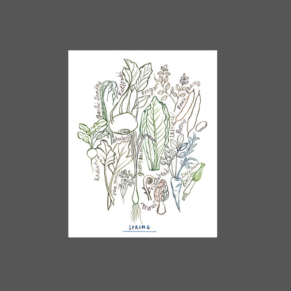 Neutral wall art - Spring vegetables