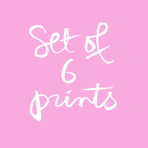 Set of six prints
