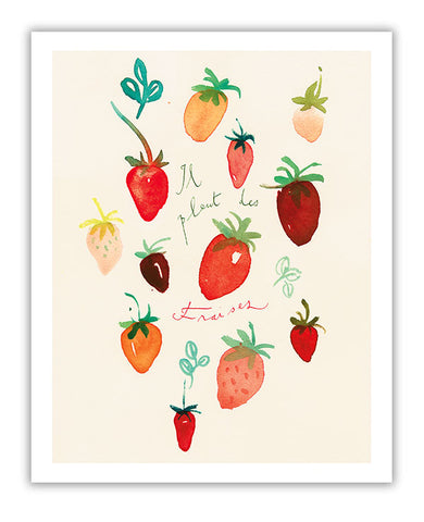 It is raining strawberries - Il pleut des fraises