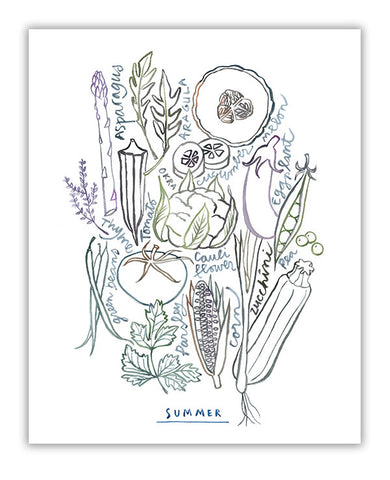 Neutral wall art - Summer vegetables