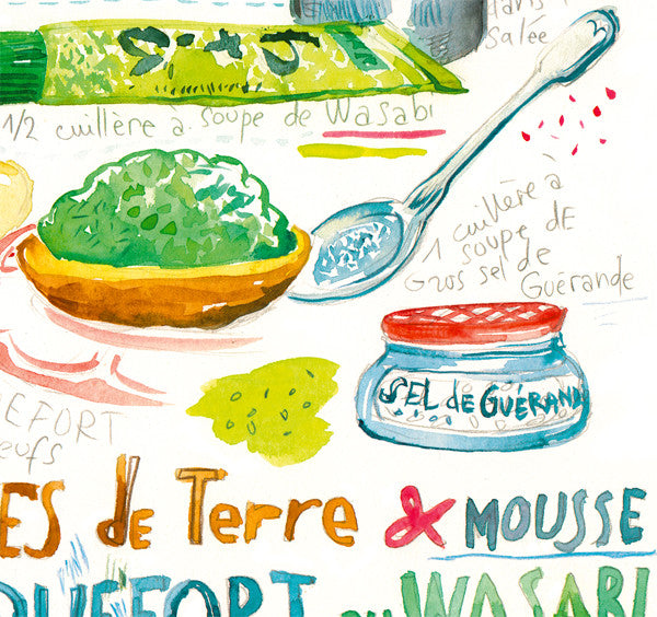 Japanese french recipe with Wasabi and Roquefort