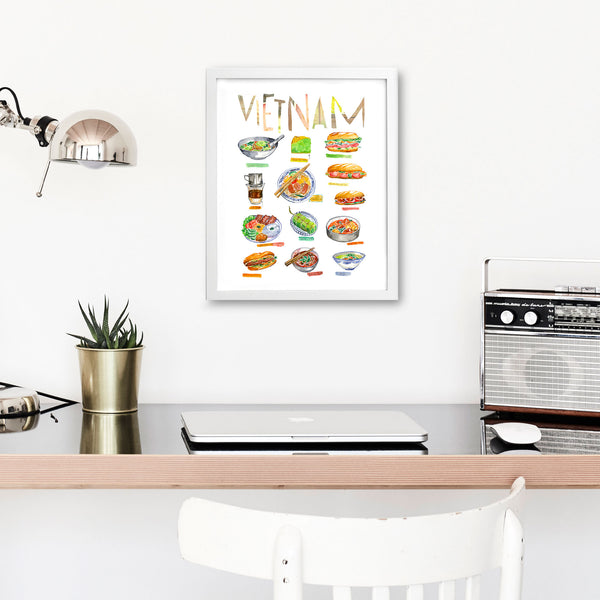 Set of 4 Vietnamese food prints