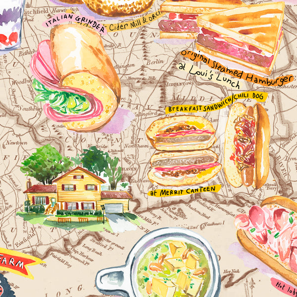 Custom Food Map print