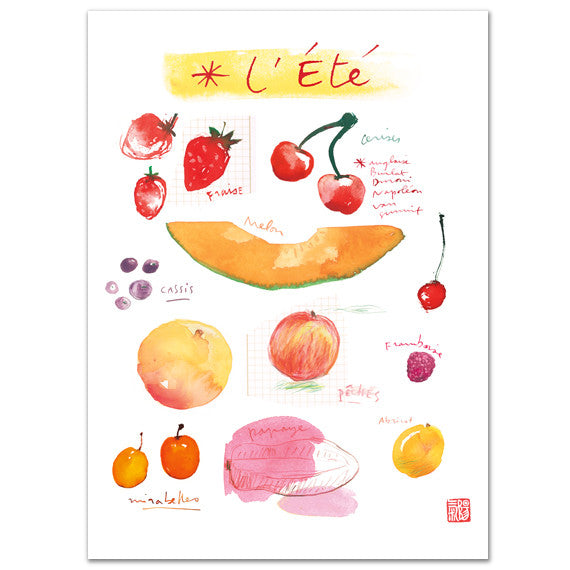 Summer fruits - In french