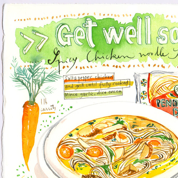 GET WELL SOON ! Spicy chicken noodle soup recipe