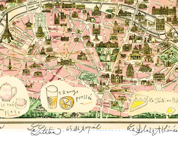 Illustrated map of Paris