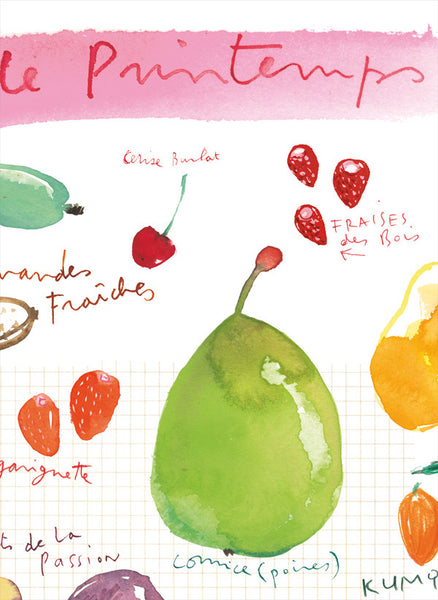 Spring fruits - In French