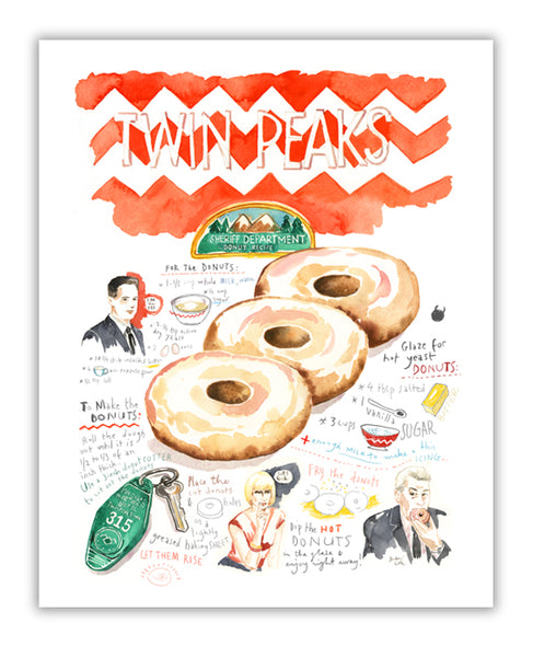 Twin Peaks Sheriff Department DONUT recipe