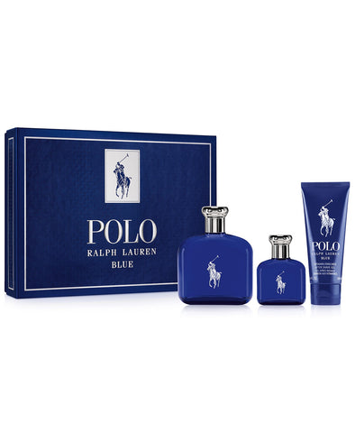 Ralph Lauren Polo Blue 3 Piece Gift Set